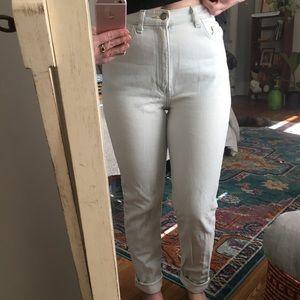 American Apparel Light Wash High Waist Jean